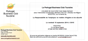 Réunion mensuelle de septembre 2014 du Portugal Business Club Touraine