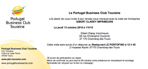Repas octobre 2016 du Portugal Business Club Touraine
